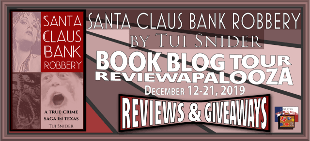 Santa Claus Bank Robbery book blog tour promotion banner