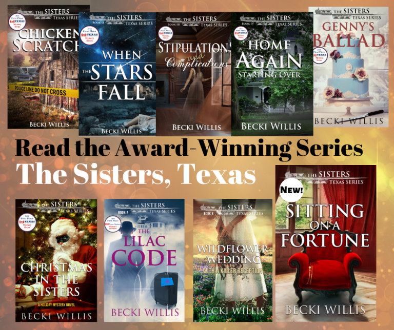 Image of all nine book covers in The Sisters series.
