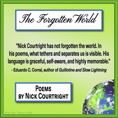 """""""Nick Courtright has not forgotten the world. In his poems, what tethers and separates us is visible. His language is graceful, self-aware, and highly memorable."""" - Eduardo C. Corral, author of Guillotine and Slow Lightning"""