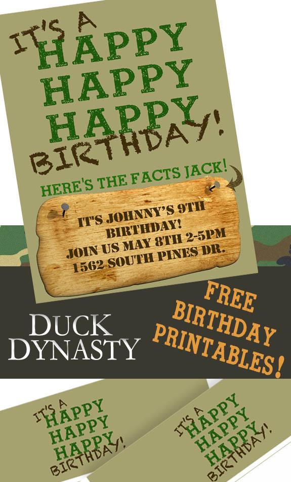 Duck dynasty party invitations invitationjpg duck dynasty birthday party invitations free clumsy crafter filmwisefo