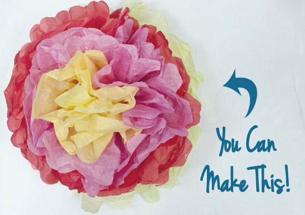 How to Make Mexican Tissue Paper Flowers   Clumsy Crafter You can easily make these fast tissue paper flowers   great for party  decorations