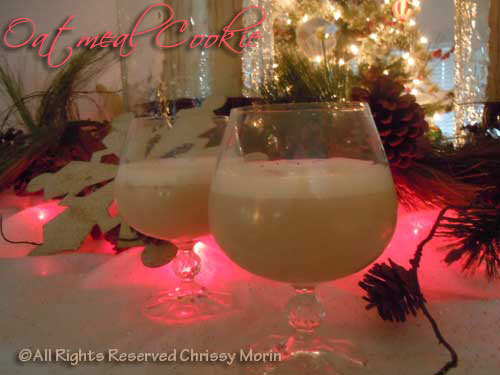 oatmeal-cookie-drink holiday shot recipe made with 3 liquors