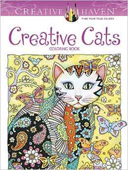 adult coloring books creative cats