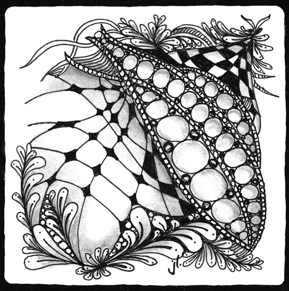 zentangle design by Sandy Batrholomew