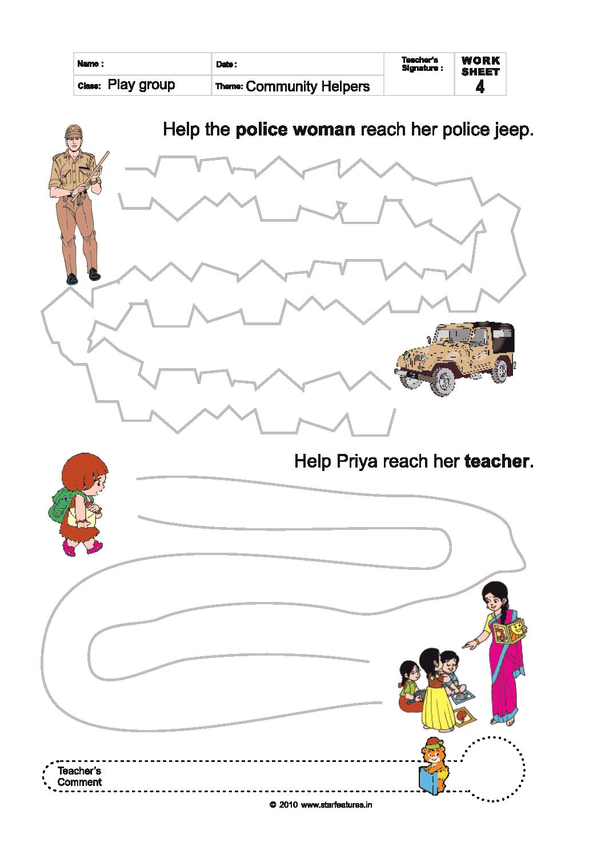 Free Play School Worksheets