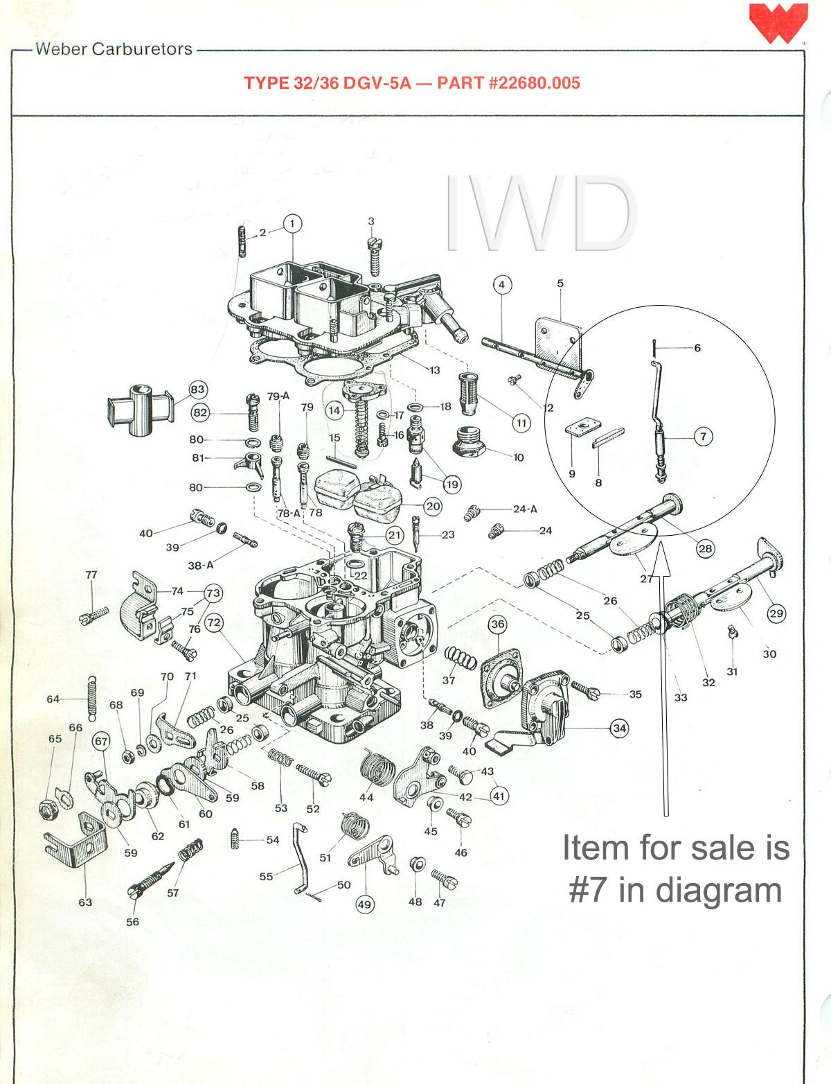 Weber 32 36 Dgv Carburetor Carb
