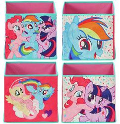Set of 4 My Little Pony Canvas Boxes