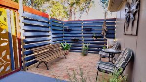 Relax in your private courtyard off the bedroom