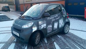 Smart ForTwo matt wrap with chrome