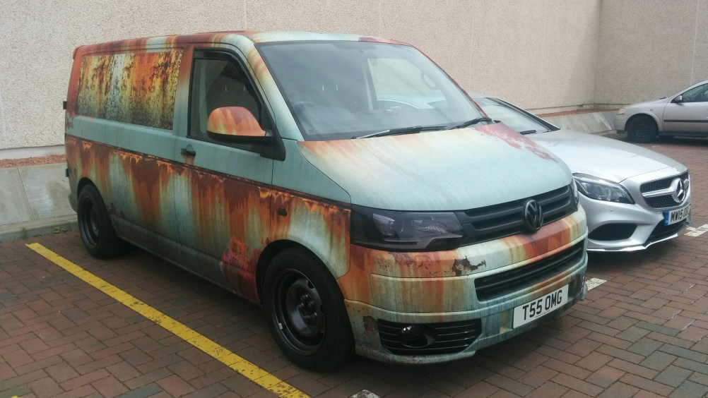 Rust Van Wrap Clyde Wraps Vehicle Graphics
