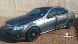 Matt Metallic Dark Grey Mercedes C Class by Clyde Wraps