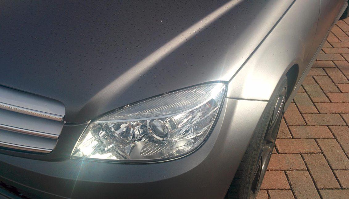 Matt Metallic Dark Grey Mercedes C Class