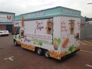 Food on the Go... food van full colour digital wrap
