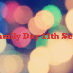 Family Day  11th Sept