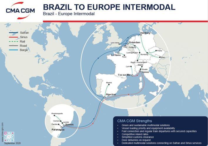 CMA CGM | Inland and intermodal services in Latin America