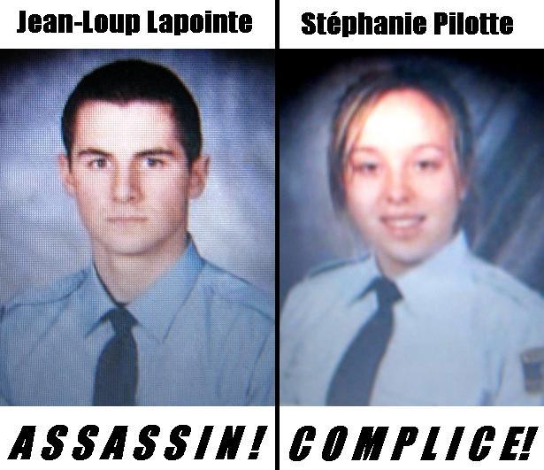 Jean-Loup Lapointe et Stéphanie Pilotte : recherchéEs pour meutre et complicité !
