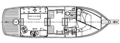 Trailer Trawler 28 Power CruiserTrawler Yacht Boat