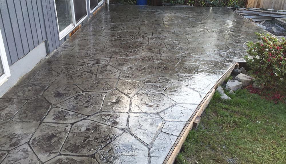 decorative stamped concrete patios