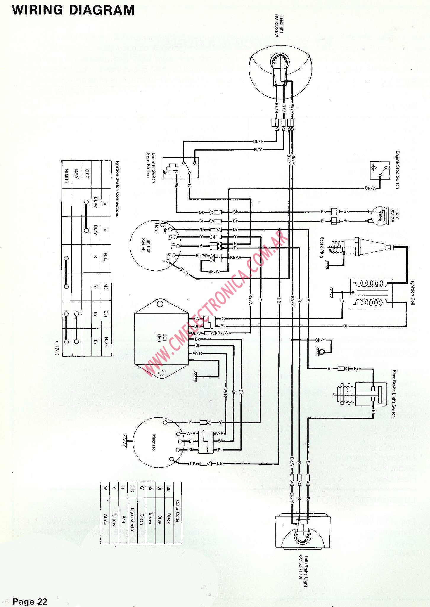 Yamaha 40 Wiring Diagram