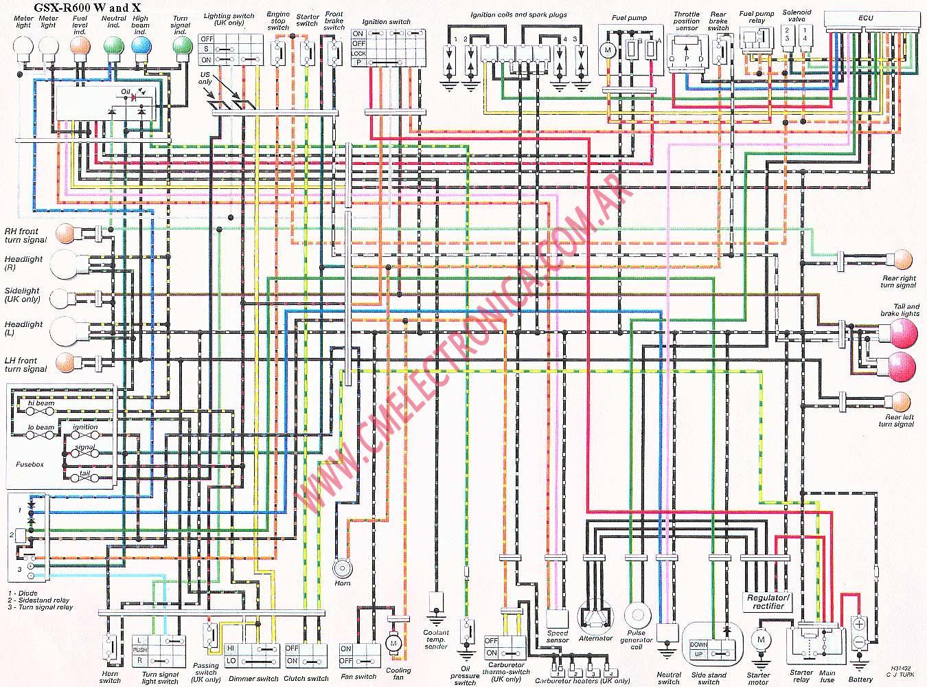 Suzuki Bandit 650 Wiring Diagram - Wiring Library •