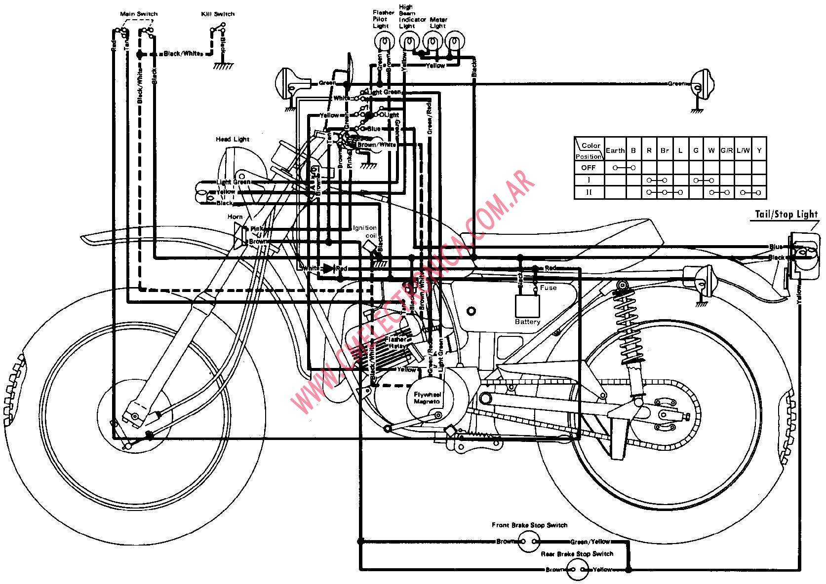 Yamaha Dt250 Electrical Diagram