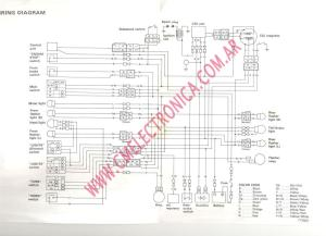 Diagrama yamaha tt350 schemat