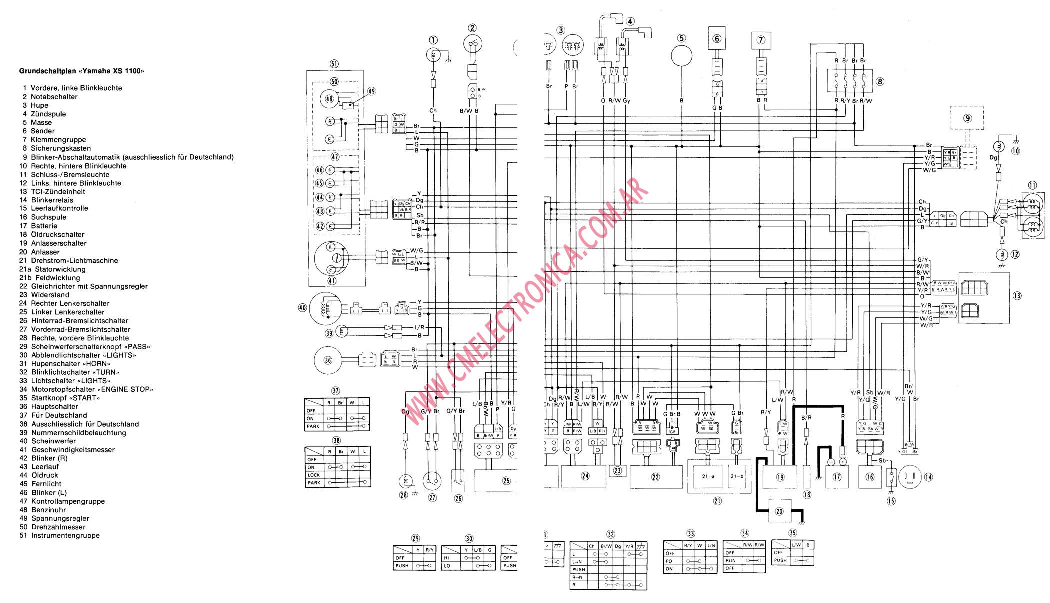 Xs850 Wiring Diagram