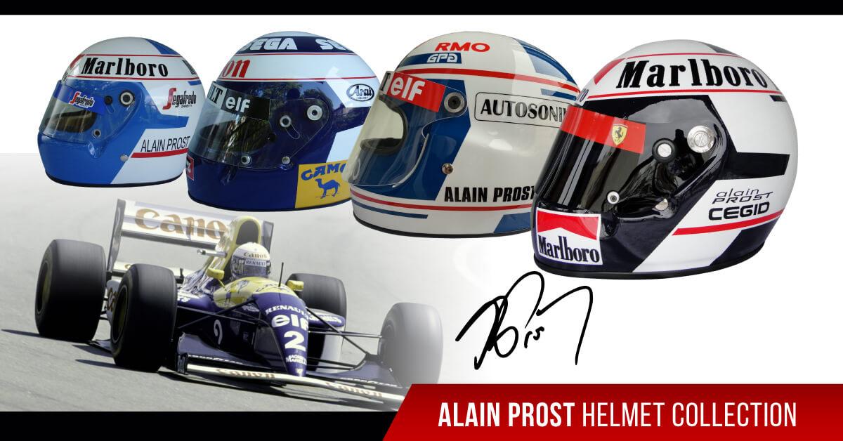 Driver Alain Prost F1 replica helmet