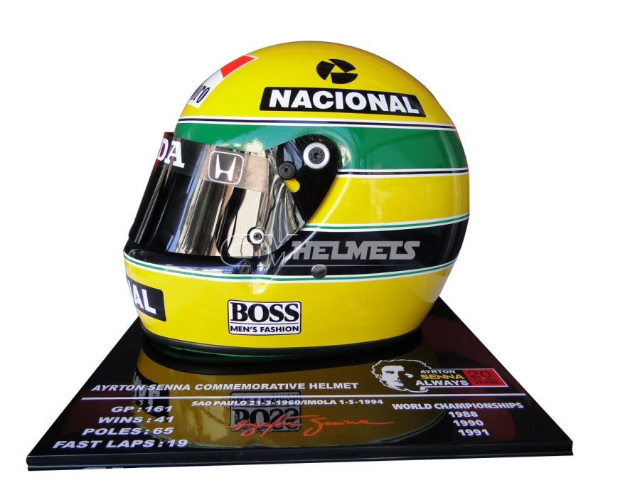 AYRTON-SENNA-1991-20-YEARS-COMMEMORATIVE-F1-REPLICA-HELMET-LIMITED-EDITION-2