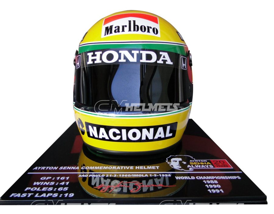 AYRTON-SENNA-1991-20-YEARS-COMMEMORATIVE-F1-REPLICA-HELMET-LIMITED-EDITION-3