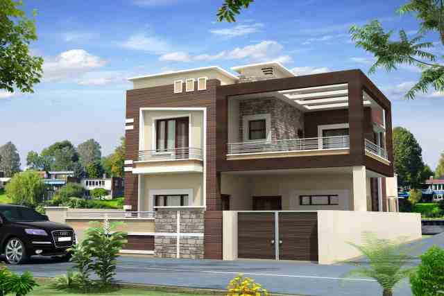 Exterior design of home