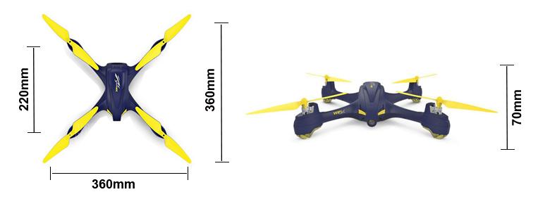 H507A Quadcopter Dimensions