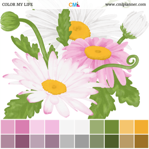 Watercolor Daisies - Color Inspiration from Color My Life