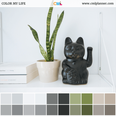 Lucky Cat - Color Inspiration from Color My Life