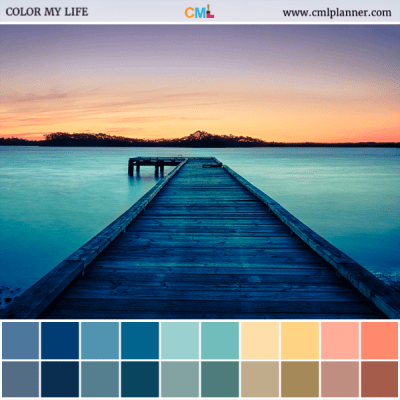 Dock At Dawn - Color Inspiration from Color My Life