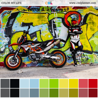 Biker Graffiti - Color Inspiration from Color My Life