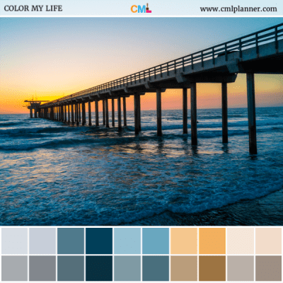Sunset Pier - Color Inspiration from Color My Life