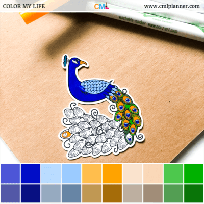 Coloring Peacock - Color Inspiration from Color My Life