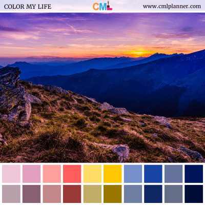 Mountain View - Color Inspiration from Color My Life
