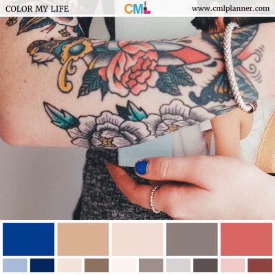Skin Art - Color Inspiration from Color My Life