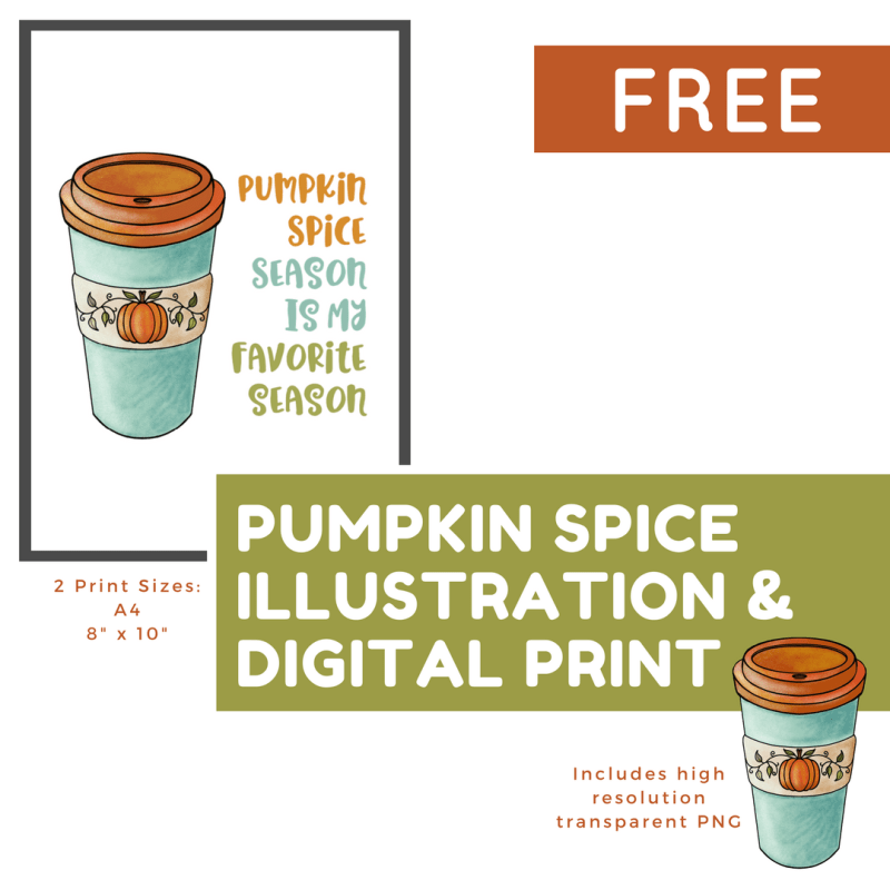 Calling all Pumpkin Spice lovers! Color My Life is giving away a free pumpkin spice illustration and digital print. Visit cmlplanner.com/free to get yours today!