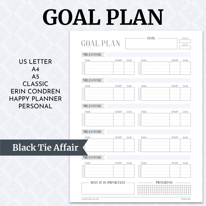 Goal Plan - Black Tie Affair