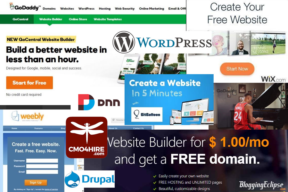 Wordpress? Wix? Weebly? Drupal? Squarespace? Which Website