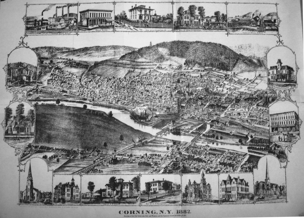 1882 Corning map