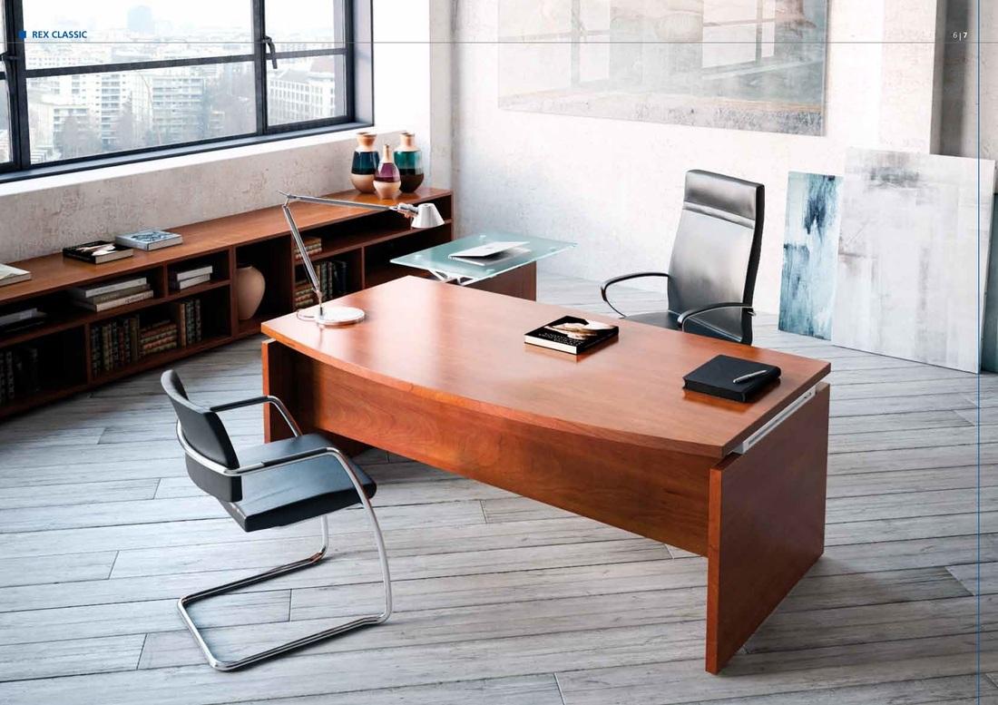 lignes sobres et les finitions chaudes du bois le bureau de direction rex melange agreablement le confort traditionnel et la moderne fonctionnalite