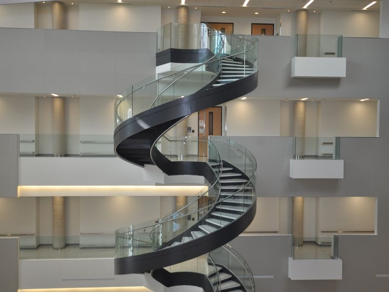 Curved Stair Stringer Custom Stair Stringer Spiral Staircase | Used Spiral Staircase For Sale | Vertical | Exterior | Contemporary | Wrought Iron | Curved
