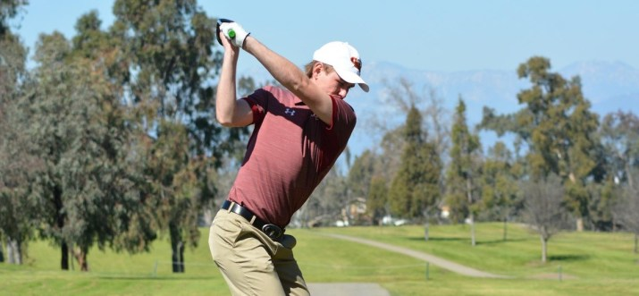 Alex Wrenn shot a 71 (-1) on Sunday to finish in fifth at SCIAC #1
