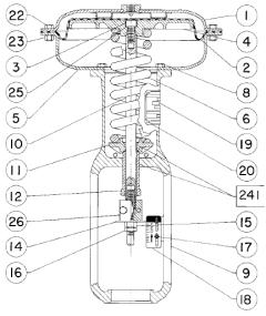 Fisher 657 pneumatic actuator repair  replacement parts