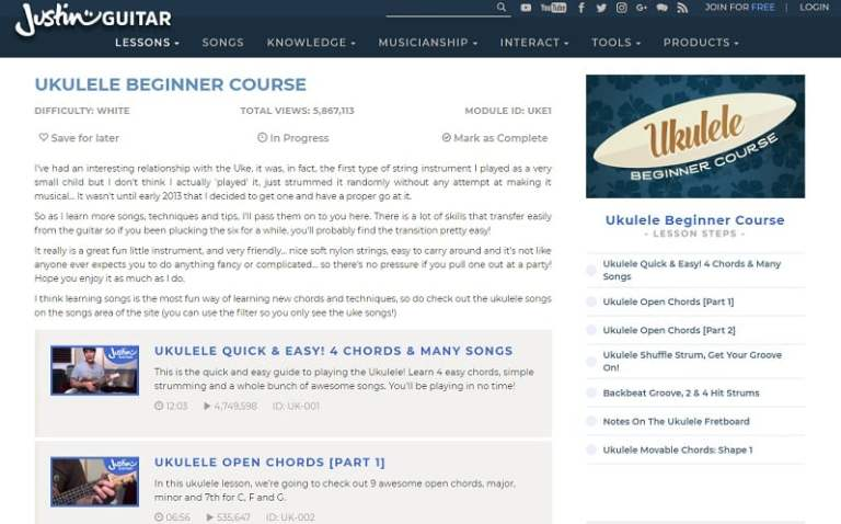 22 Websites to Learn Ukulele Lesson Online (Free and Paid ...