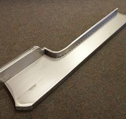 53-56 Running Board Set - Smooth - Steel